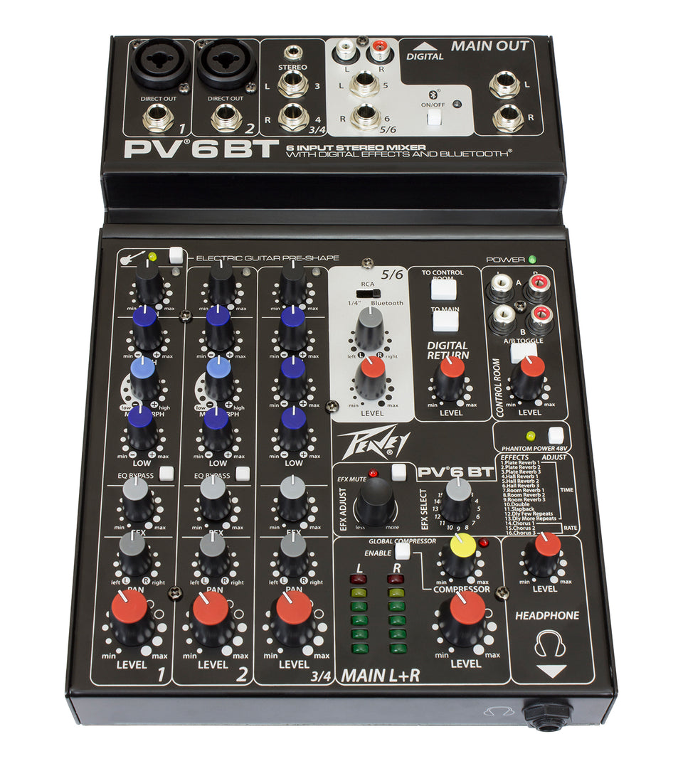 Peavey PV 6 BT Compact Mixer