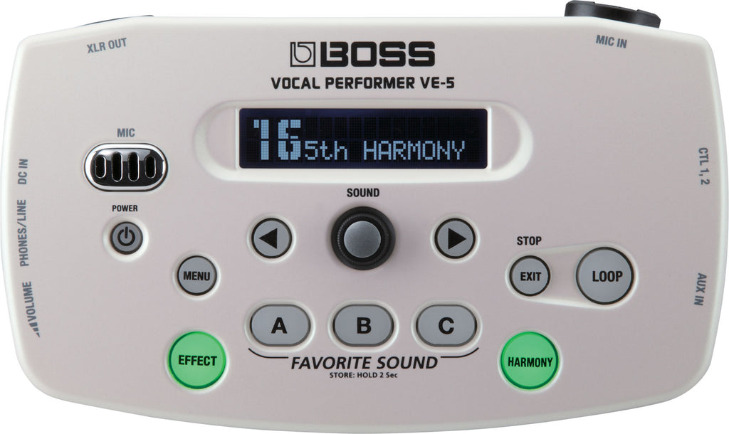 Boss VE-5-WH VE-5 Vocal Performer