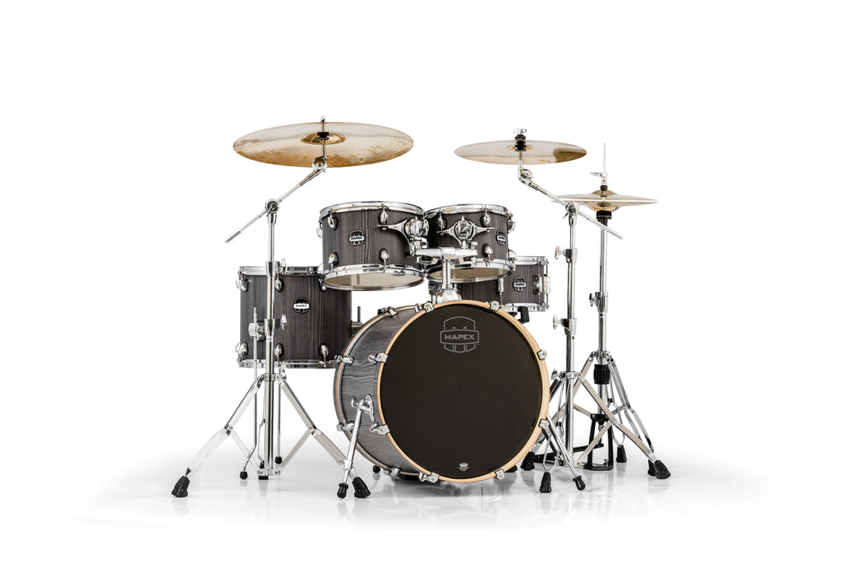 Mapex Mars Series 5-Piece Fusion Shell Pack Smokewood With Chrome Hardware