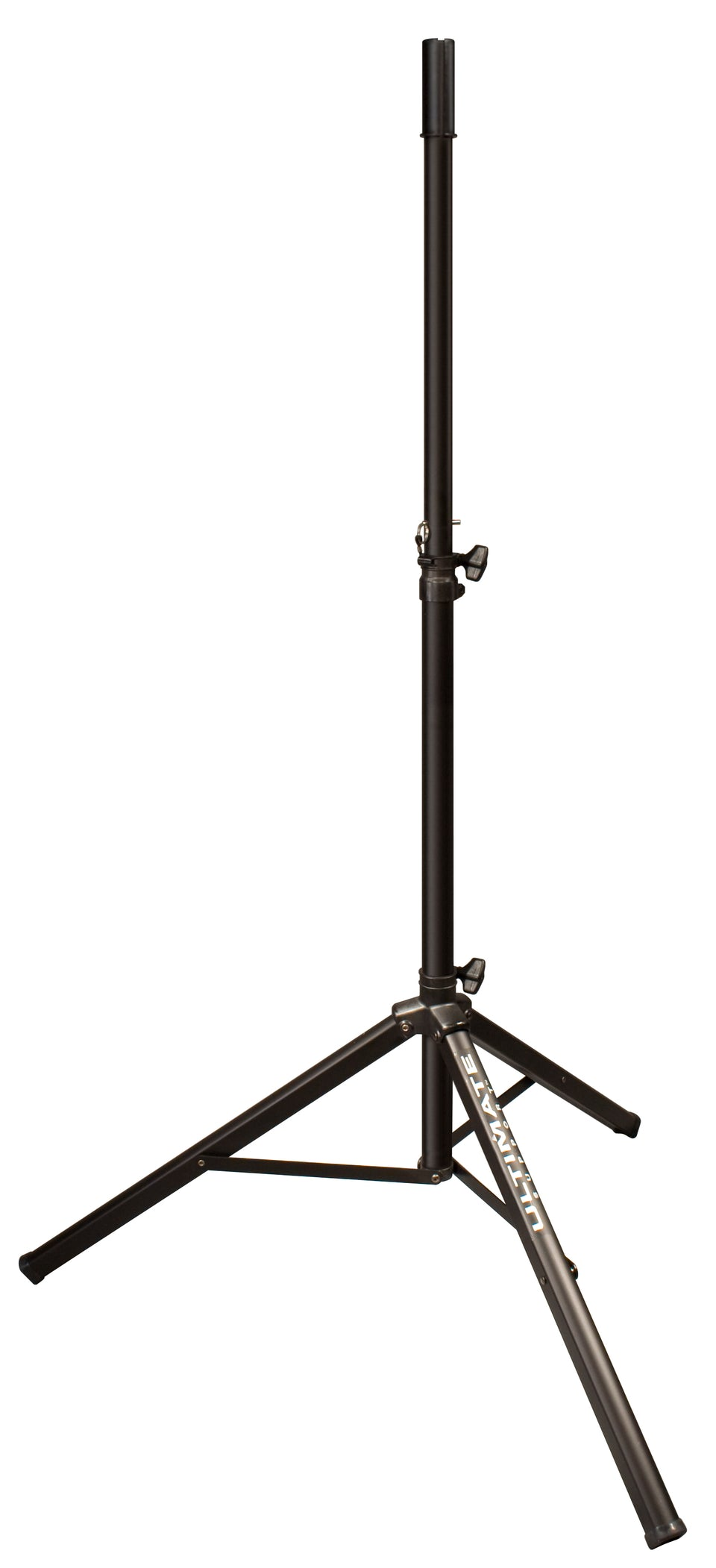 Ultimate Support TS-70B Aluminum Tripod Speaker Stand With Safe And Secure Locking Pin And 150 lb Load Capacity - Black