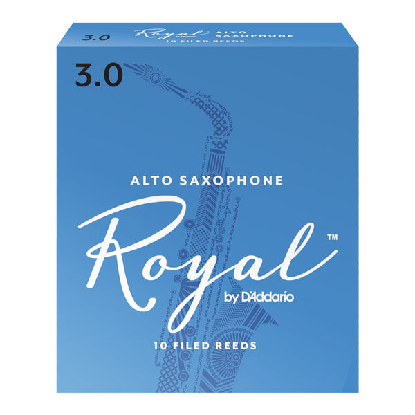 D'Addario RJB1010 Rico Royal Alto Sax Reeds, Strength 1.0, 10-Pack