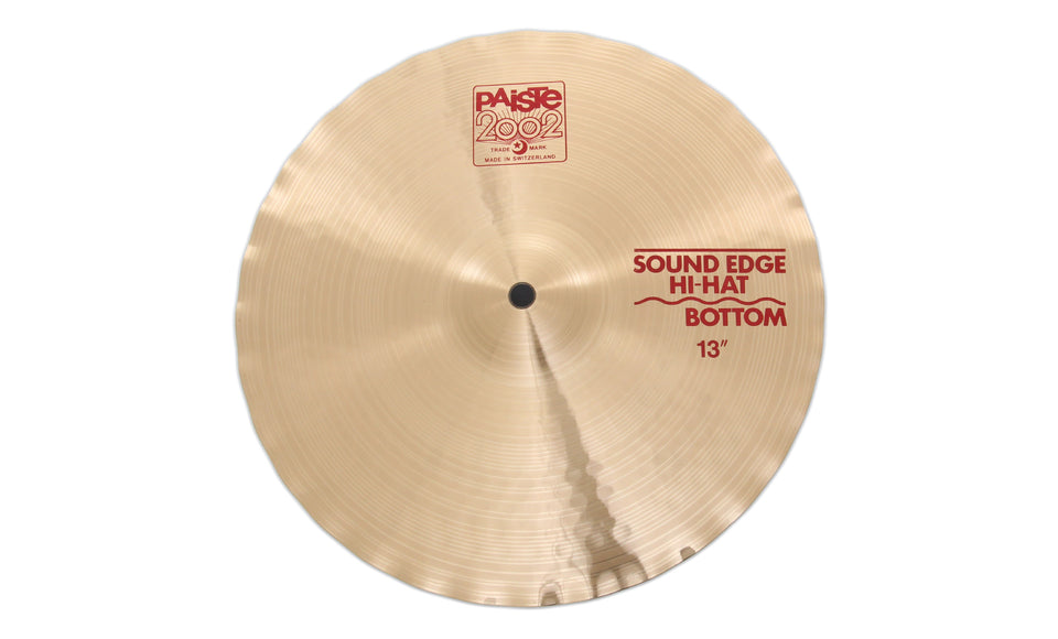 "Paiste 13"" 2002 Sound Edge Hi-Hat Bottom Cymbal"
