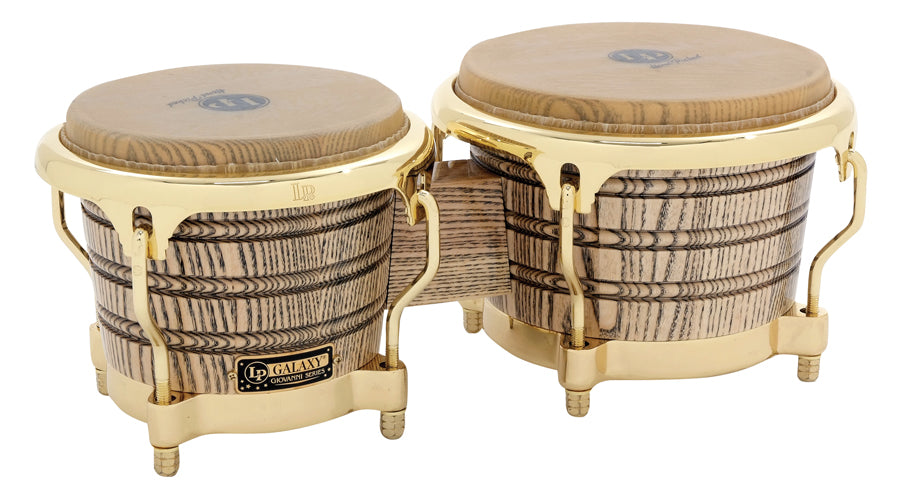 LP LP793X Galaxy Giovanni Series Bongos, Natural/Gold