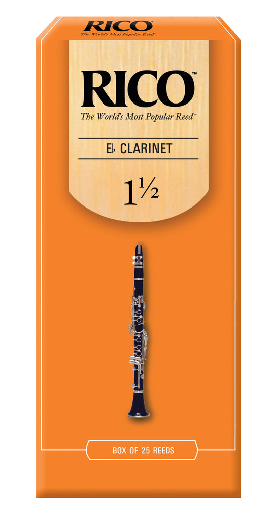 Ddaddario Woodwinds RBA2515 Rico Eb Clarinet Reeds, Strength 1.5, 25-pack