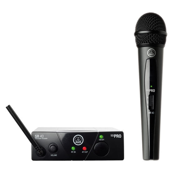 AKG WMS40 Mini Wireless Vocal Microphone Set - Band-US45-B