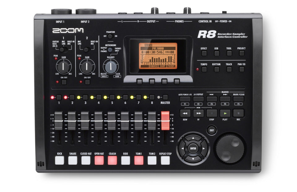 Zoom R8 Multitrack Recorder, Interface, Controller, & Sampler