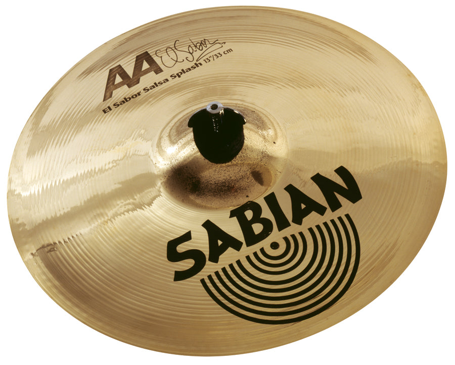"Sabian 13"" AA El Sabor Salsa Splash Cymbal Brilliant Finish"