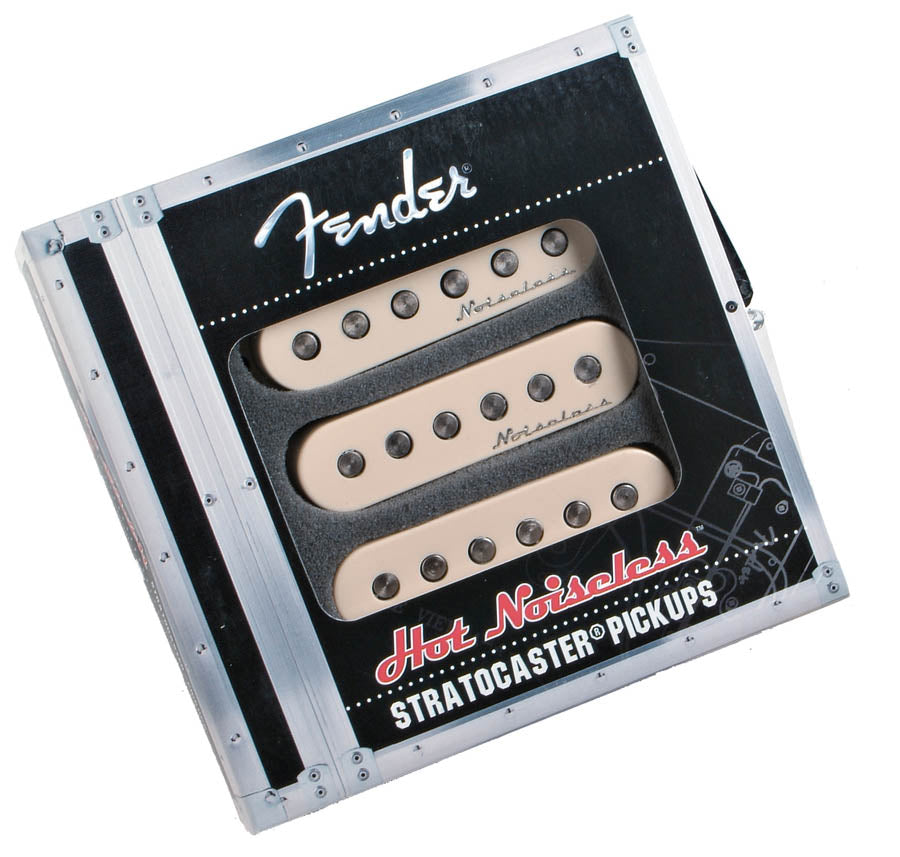 Fender Hot Noiseless Strat Pickup Set - Aged White