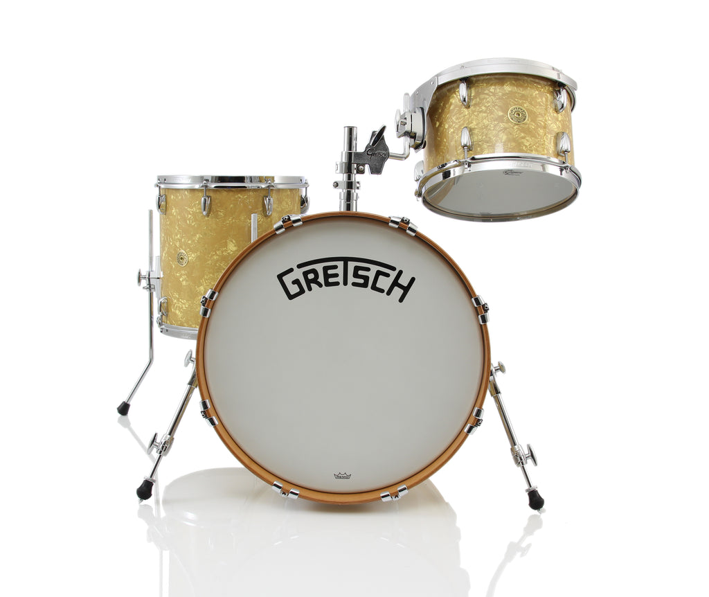 Gretsch Broadkaster 3 Piece Drum Set Shell Pack - Antique Pearl Wrap
