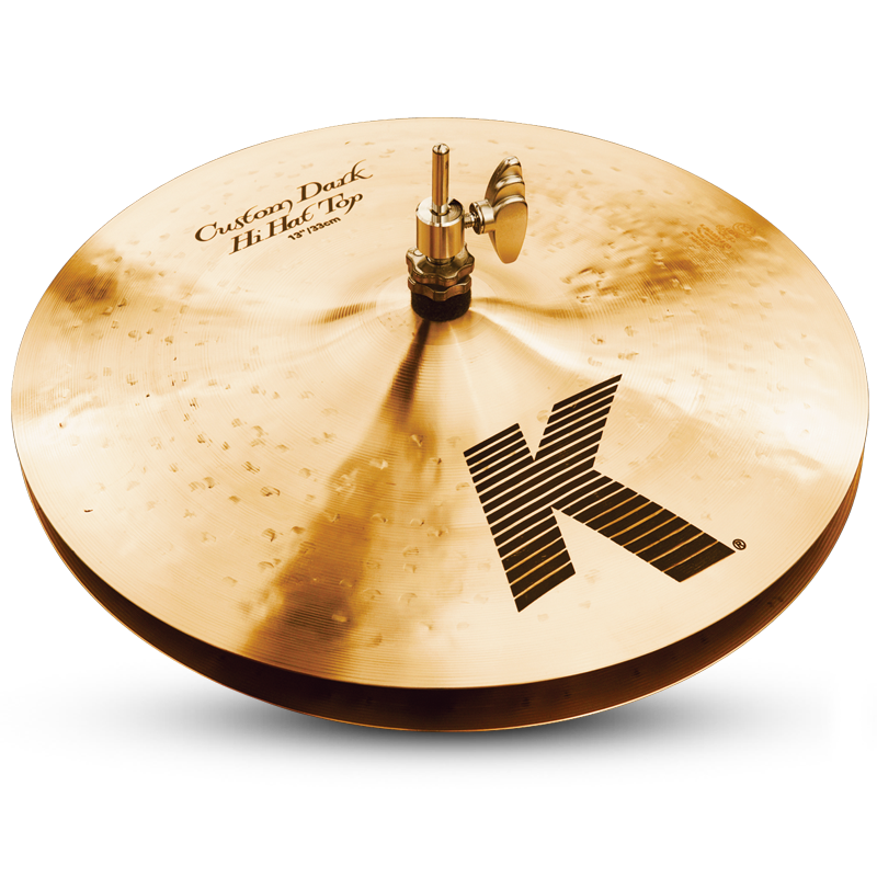"Zildjian 13"" K Custom Dark Hi-Hat Cymbal - Top"