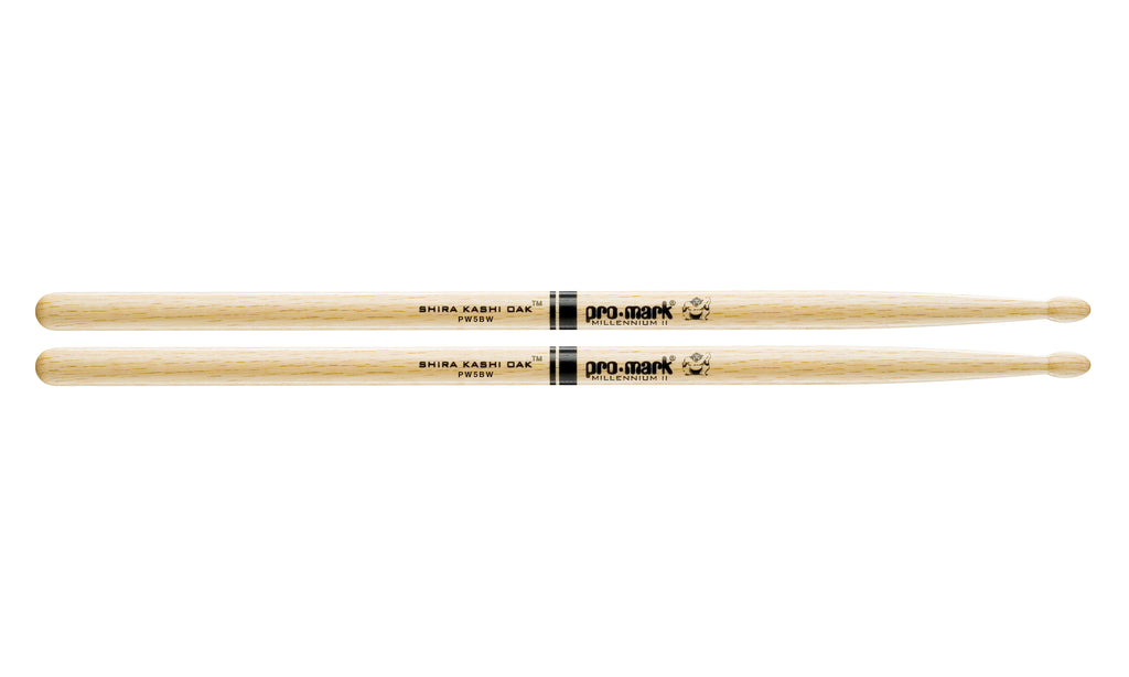 Promark PW5BW Shira Kashi Oak 5B Wood Tip Drumsticks