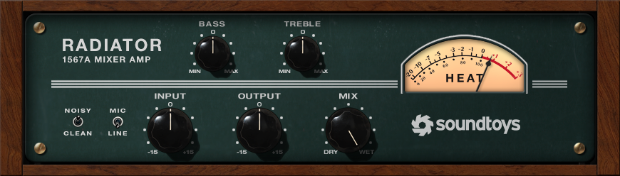 Soundtoys Radiator Tube Amplifier Plug-In