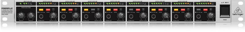 Behringer Powerplay HA8000 V2 8 Channel High Power Headphones Mixing & Distribution Amplifier