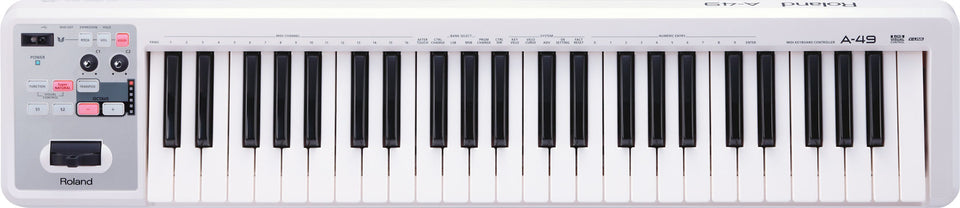 Roland A-49 MIDI Keyboard Controller - White