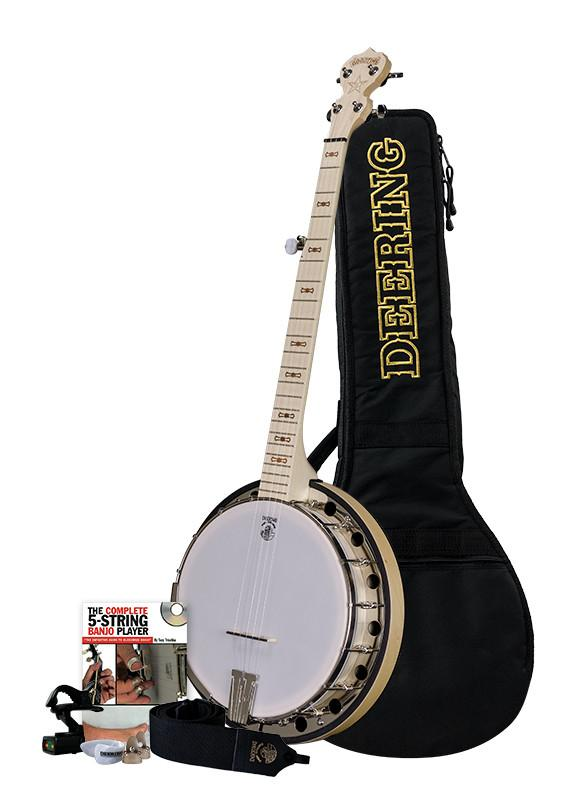 Deering GP-BG Goodtime Two Bluegrass Banjo Package