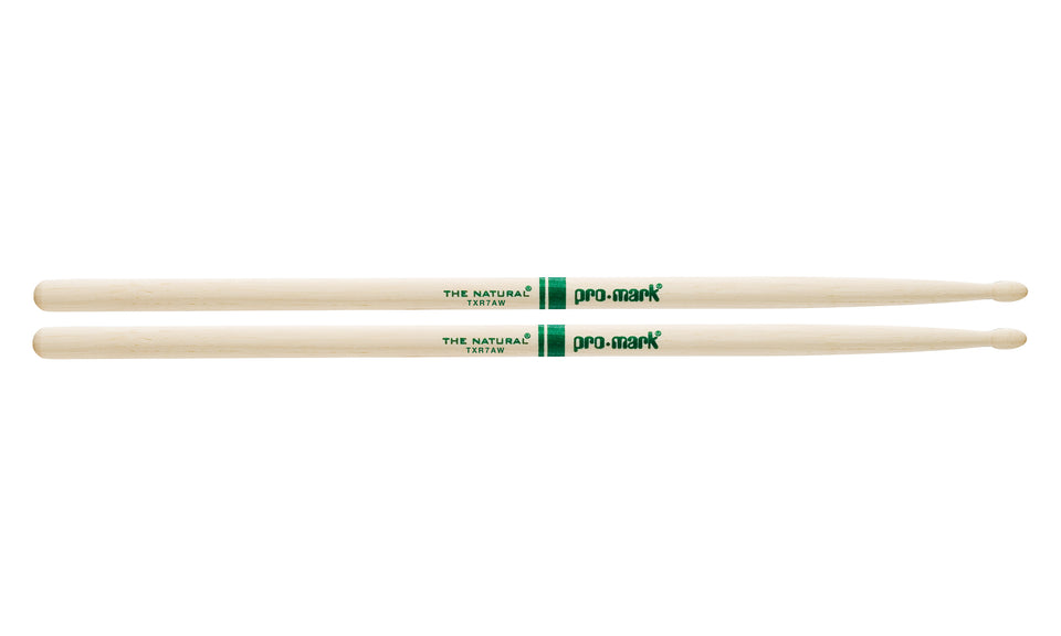 Promark TXR7AW Hickory 7A The Natural Wood Tip drumstick