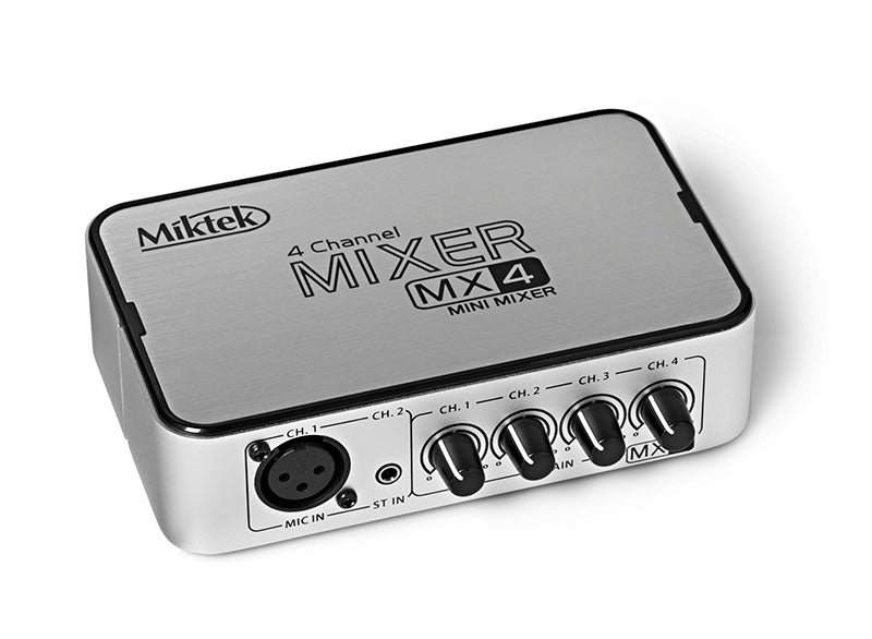 Miktek MX4 4 Channel Mini Stereo Mixer