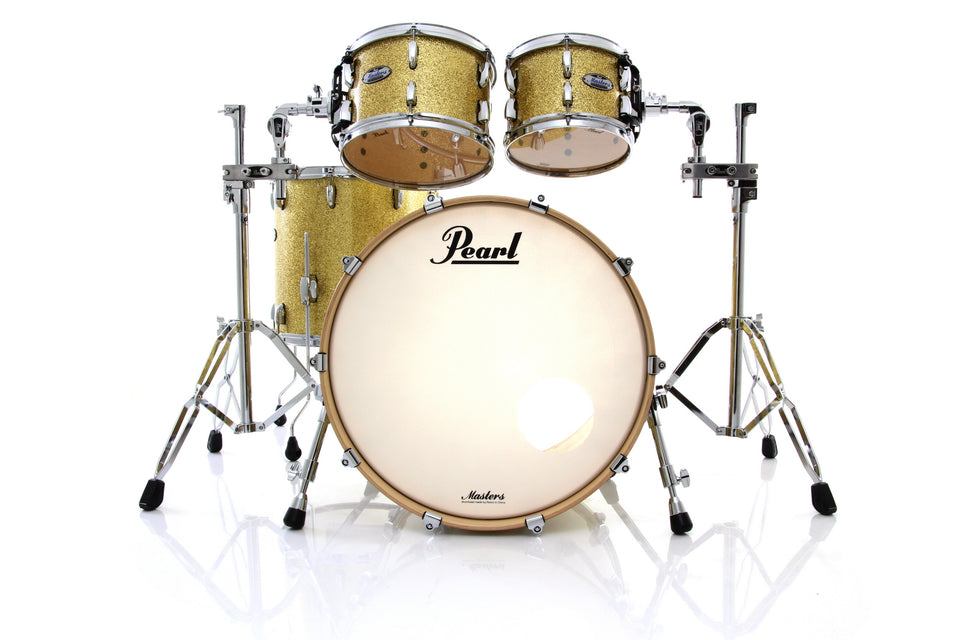"Pearl Masters Maple Complete MCT 4-Piece 22"" Shell Pack - Bombay Gold Sparkle"