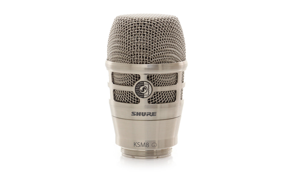 Shure RPW170 KSM8 Dualdyne Cardioid Dynamic Wireless Microphone Capsule -Brushed Nickel