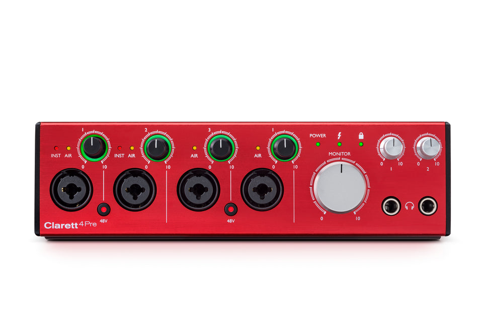 Focusrite Clarett 4Pre 18x8 Thunderbolt Audio Interface