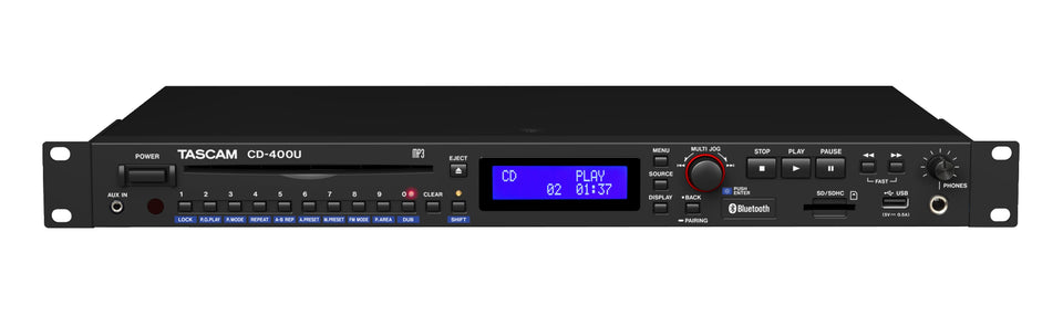 Tascam CD-400U CD Player / Media Player / AM/FM Receiver