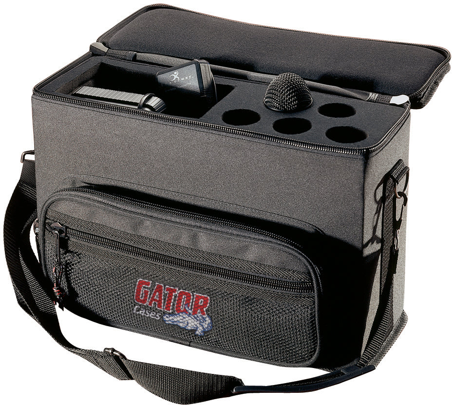 Gator GM-5W Padded Bag For 5 Wireless Microphone Systems