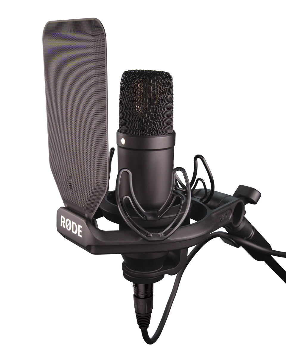 "Rode NT1-KIT 1"" Cardioid Condenser Microphone W/ Shock Mount, Cable & Pop Filter"