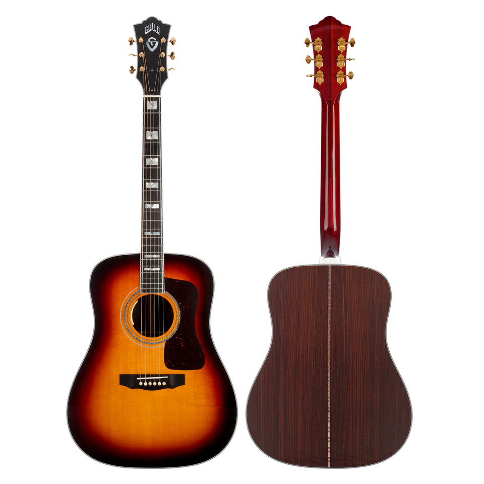 Guild D-55E Dreadnought Acoustic Electric Guitar - Antique Sunburst