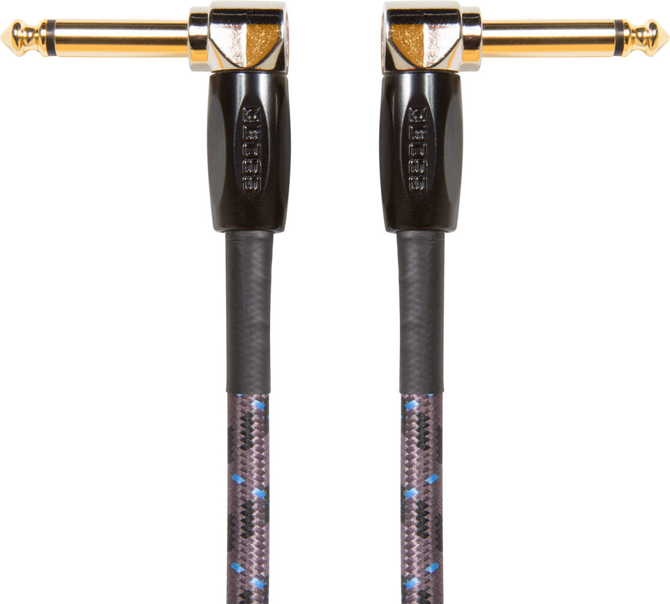 "Boss BIC-3AA Angled 1/4"" Instrument Cable - 3 Foot"
