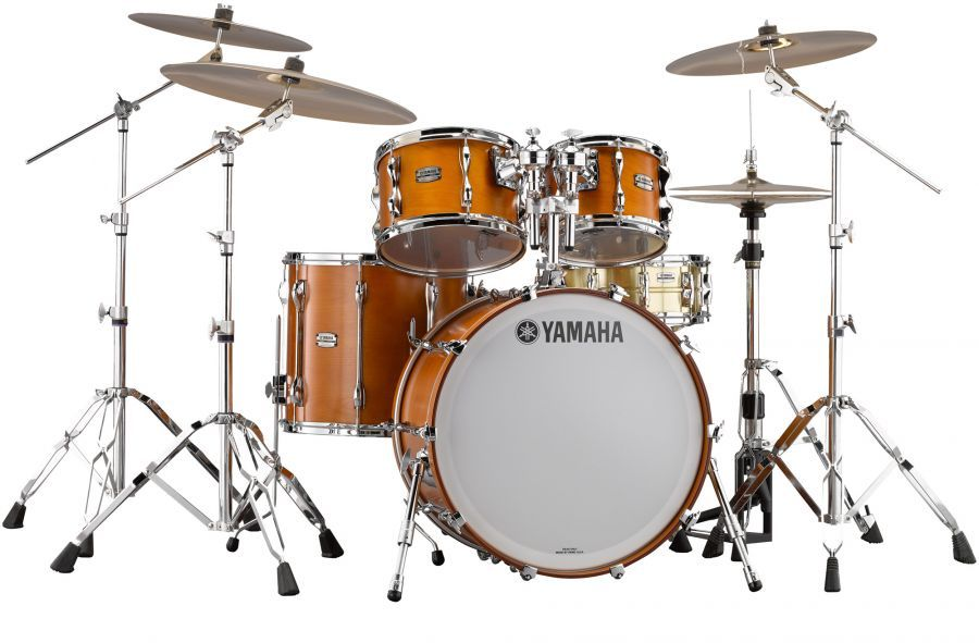Yamaha Recording Custom 4 Piece Drum Set Shell Pack - Real Wood Matte Finish
