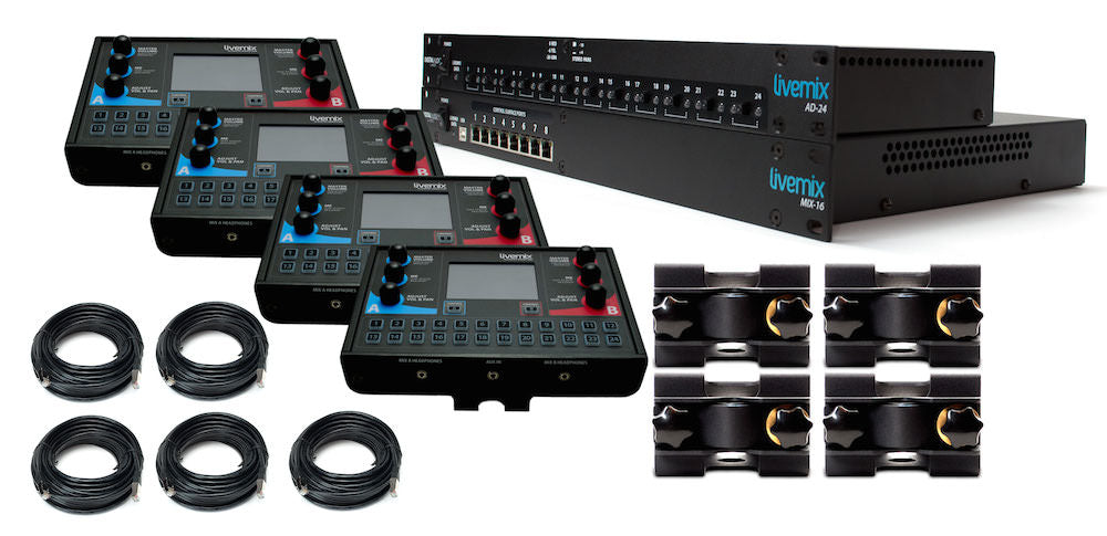Digital Audio Labs Livemix Analog Bundle Personal Monitor System