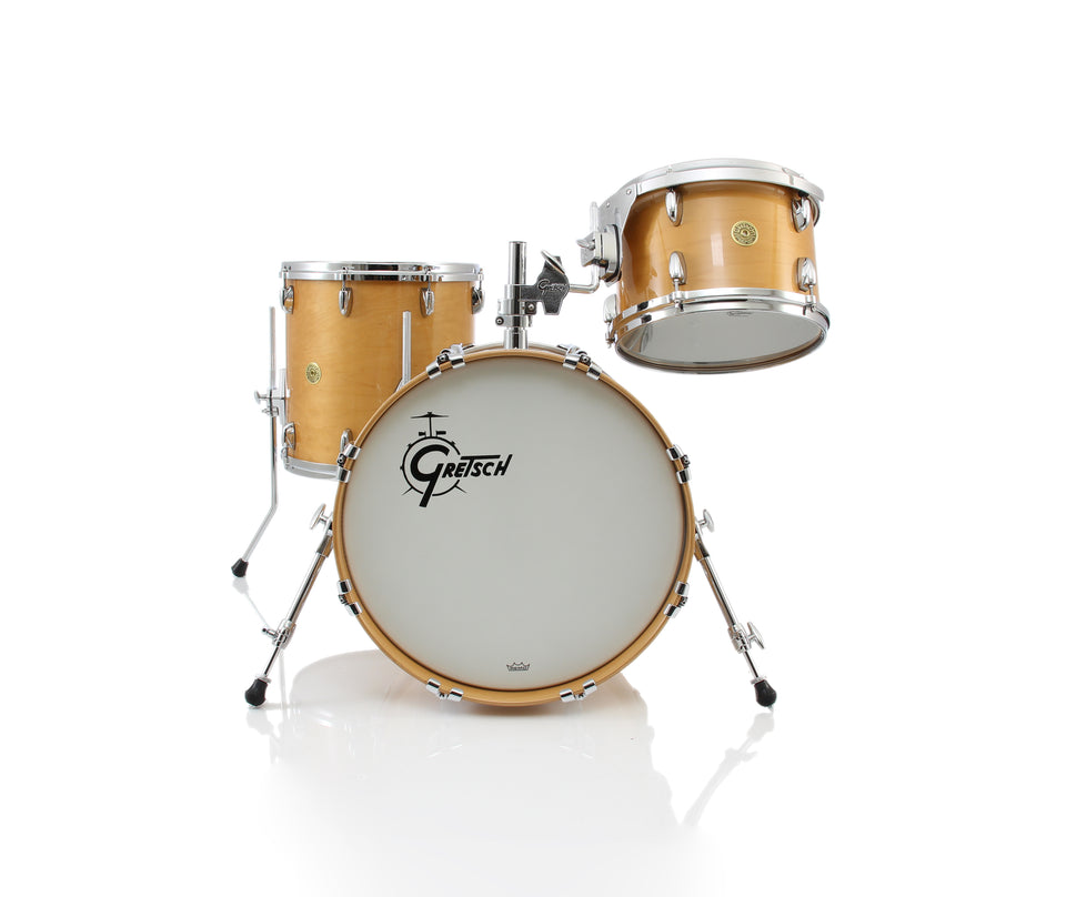 Gretsch USA CUSTOM 3 Piece Bop Drum Set Shell Pack - Gloss Millenium Maple