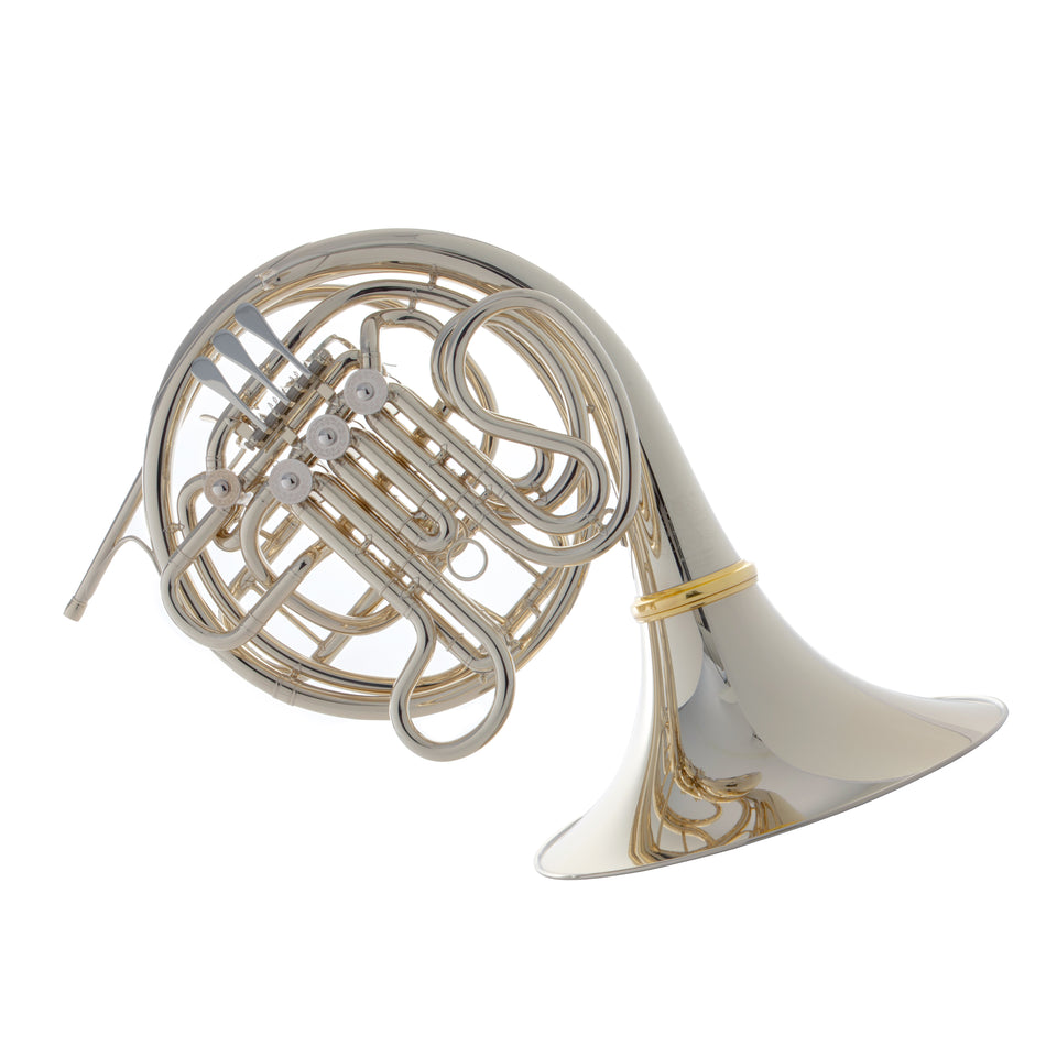 Hans Hoyer 6802NSA Heritage F/Bb Double French Horn - String Linkage, Nickel Silver Finish