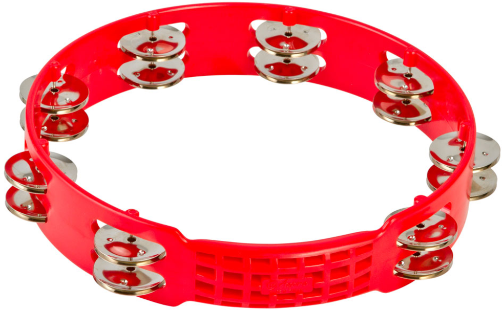 "LP LPA191 Aspire 10"" Plastic Tambourine, Red"