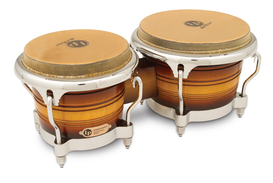 LP LP201AX-2MSB Generation II Bongos, Matte Sunburst/Chrome