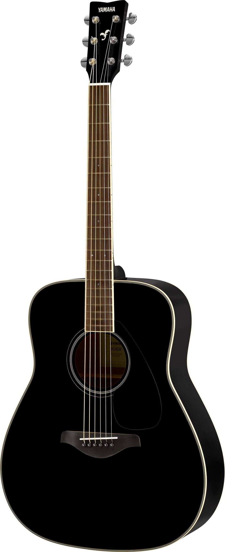 Yamaha FG820 Acoustic Guitar - Black