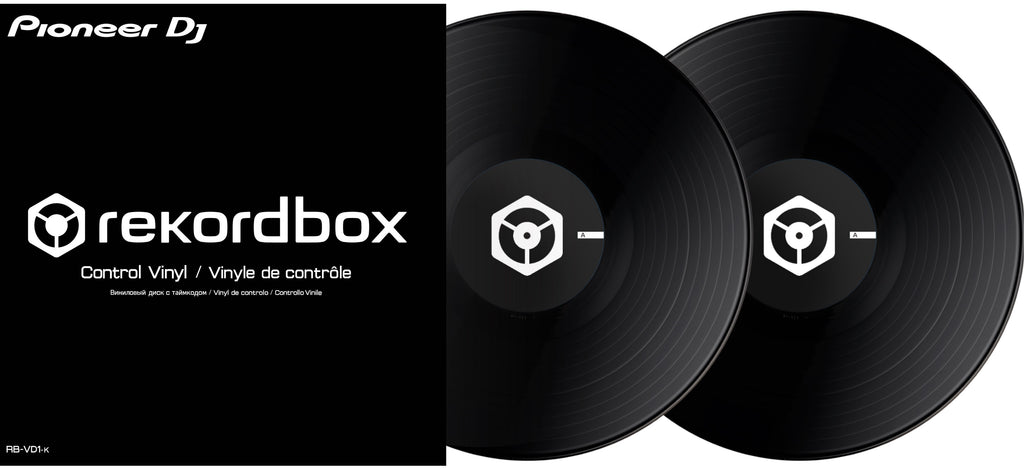 Pioneer DJ RB-VD1-K DVS Control Vinyl For Rekordbox DJ - Double Pack, Black