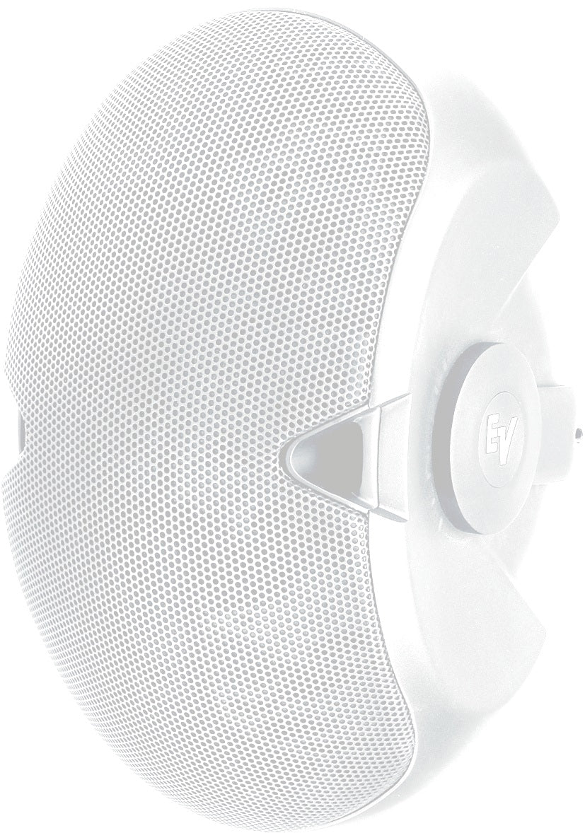 "Electro-Voice EVID 4.2T Dual 4"" Two-Way Surface-Mount Loudspeaker With Transformer - White (Pair)"