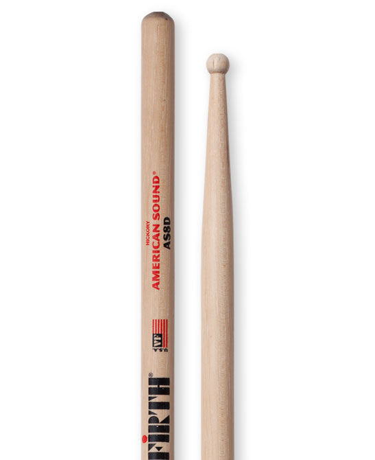 Vic Firth American Sound 8D Round Tip Drum Sticks