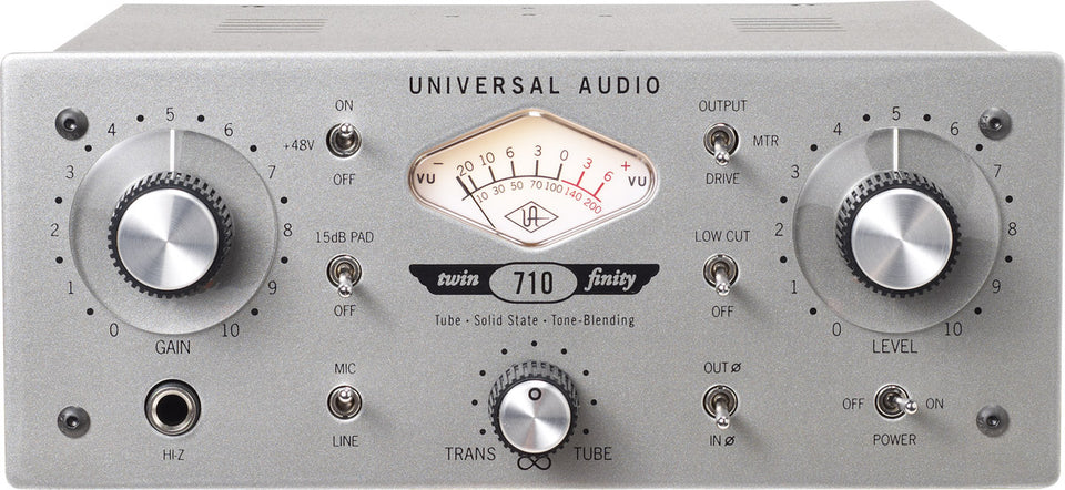 Universal Audio 710 Twin-Finity Tone-Blending Mic Preamp And DI Box