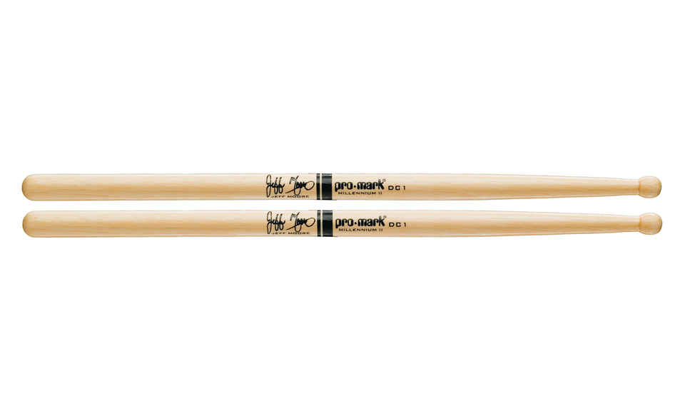 Promark TXDC1W Hickory DC1 Jeff Moore Wood Tip drumstick