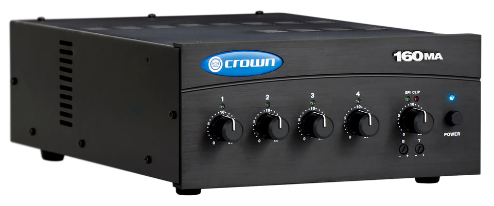 Crown Audio 160MA 4 Input 60w Mono Mixer/Amplifier