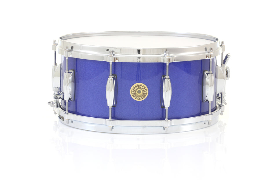 "Gretsch 14"" x 6.5"" USA CUSTOM Snare Drum - Mystic Blue Gloss, Micro Sensitive"
