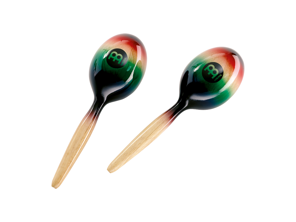 Meinl MWM1MC Wood Maracas - Multi-Color