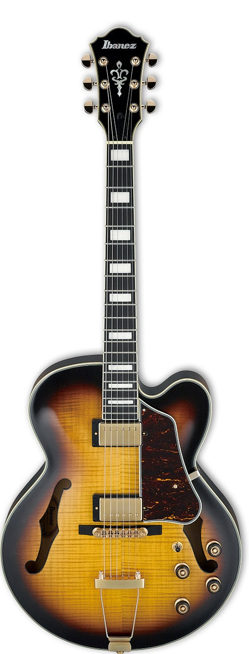 Ibanez AF95FM-AYS Artcore Expressionist Hollow Body Electric Guitar - Antique Yellow Sunburst