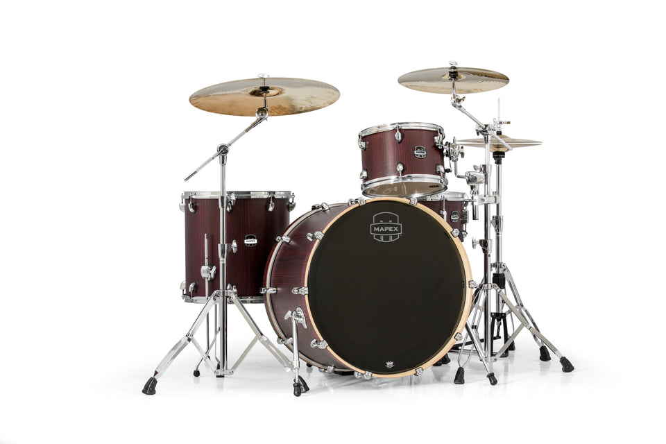 Mapex Mars Series 4-Piece Rock 24 Shell Pack Bloodwood With Chrome Hardware