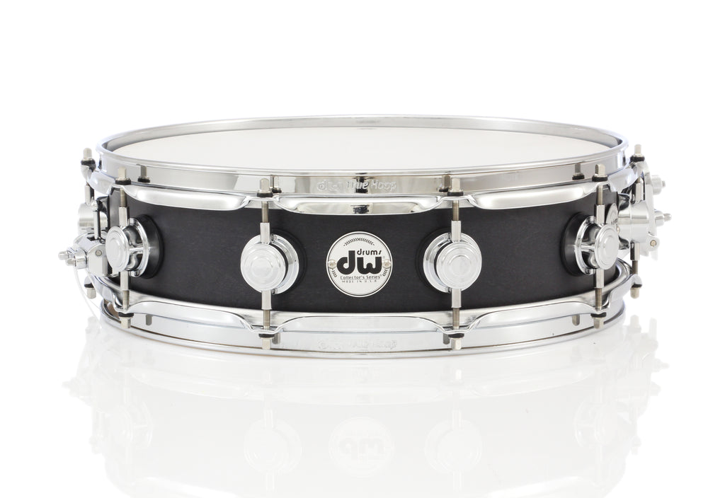 "DW 15"" x 4"" Collector's Snare Drum - Satin Oil Ebony Stain Chrome Hardware"