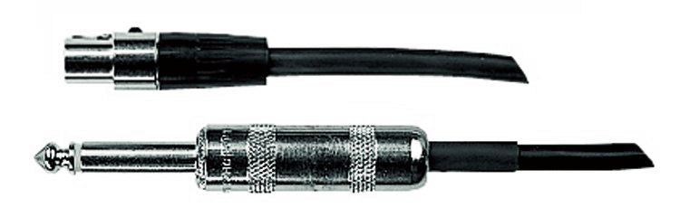 "Shure WA302 2' 1/4"" Instrument Cable for Shure BodyPack Transmitter"