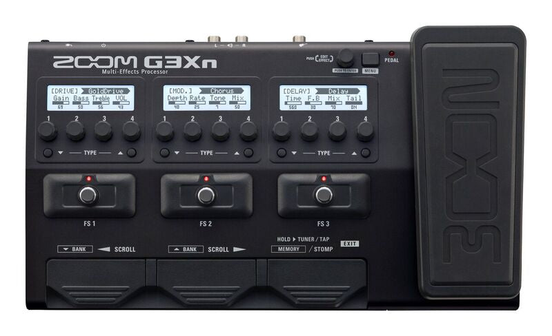 Zoom G3Xn USB Guitar Effects Pedal W/ Expression