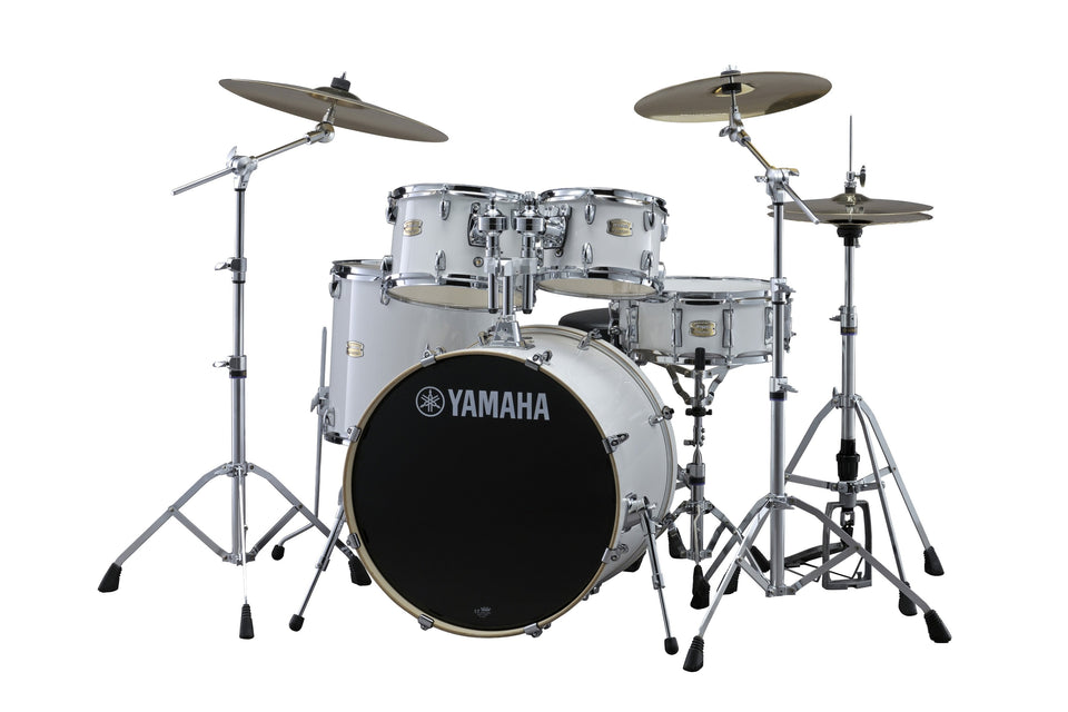 "Yamaha Stage Custom Birch 22"" Kick 5 Piece Shell Pack - Pure White"